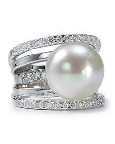 Majorica 5 Tier Pearl Ring: