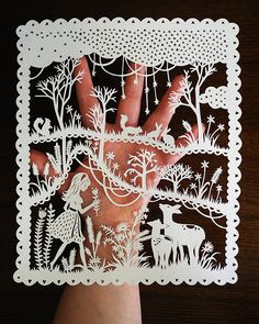 Handcut Paper Illustration Original Papercut by SarahTrumbauer, $90.00