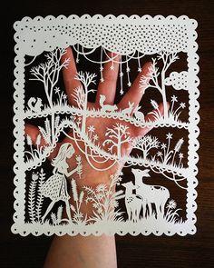 Handcut Paper Illustration  Original Papercut  by SarahTrumbauer