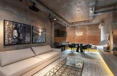Lofts urbanos e industriais ganham tijolos e tubulações aparentes nos espaços apresentados na CASA COR 2014.