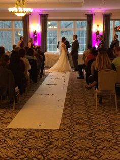 When it's too cold for our outdoor space, the ballroom is a perfect location for your on site ceremony!