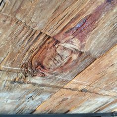 "Photograph by Shelley Graham Turner - beam in the ceiling with a ""knot of many colors""  #FortStanwix  #history #RomeNY"