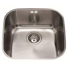Cda Undermount Sink : CDA Polished Steel Undermount Sink Single Bowl Reversible