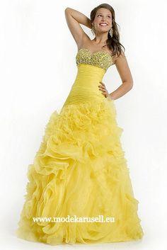 Gelbes Abendkleid 2013 Ballkleid - Kleider Online Bestellen