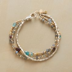 EASY AS 1-2-3 BRACELET -- Three wear-with-anything strands: sterling silver…