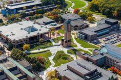 Futuristic Architecture, Landscape Architecture, Landscape Design, Decks, Plaza Design, Public Space Design, School Of Engineering, Landscaping Supplies, Ann Arbor