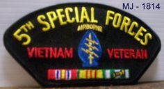 US Army - 5th Special Forces Airborne Vietnam Veteran Embroidered Patch