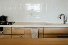 LIXIL アレスタ [メープル] キッチンリフォーム 白タイル japanese kitchen