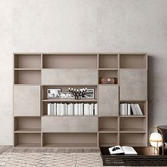 Luxury bookcase Wall Unit 'Book 2' Minimalist design, elegant and high quality materials. Durable and resistant product.
