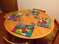 Decoupage, Tea Coaster, Photo Art, Coasters, Ceramics, Graphic Design, Country, Tableware, Creative