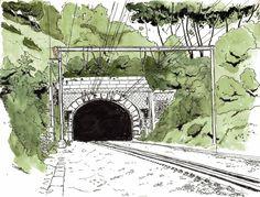 Tunnel de chemin de fer, Wonck
