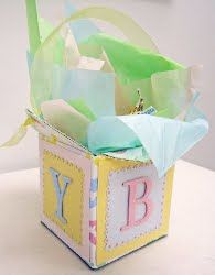 This is cute for baby showers or for people having babies or who have small babies.