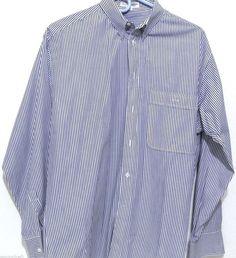Mens GIORGIO ARMANI LE COLLEZIONI Button Front Stripe Shirt Size 15/32/33 US #GiorgioArmani