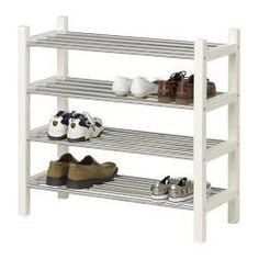 """TJUSIG Shoe rack, white - 31 1/8 """" - IKEA"""
