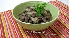 Beef Stroganoff with Mushroom (Atkins Diet Phase 1 Recipe) - Diet Plan 101 Atkins Recipes, Meat Recipes, Low Carb Recipes, Cooking Recipes, Healthy Recipes, Protein Recipes, Beef Mushroom Stroganoff, Beef With Mushroom, Dieta Atkins