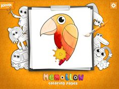 #Memollow #Coloring Pages is an #app which belongs to the #creative category, letting #children feel #free to express themselves! And its for #free!