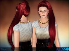 Long tail for females  Found in TSR Category 'Female Sims 3 Hairstyles'