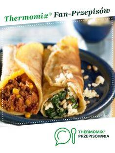 Naleśniki na dwa sposoby jest to przepis stworzony przez użytkownika Thermomix. Ten przepis na Thermomix® znajdziesz w kategorii Dania główne z mięsa na www.przepisownia.pl, społeczności Thermomix®. Tacos, Mexican, Ethnic Recipes, Food, Gastronomia, Thermomix, Essen, Meals, Yemek
