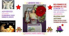 TIEMPO DE ADVIENTO: LA ROSA ROJA QUE ME REGALARON. TERCER DOMINGO DE ADVIENTO.  DOMINGO 15 DE DICIEMBRE DEL 2013. DIA MAJESTUOSO DE IR A MISA. PARTE 3 +♠LOURDES MARIA BARRETO+♠