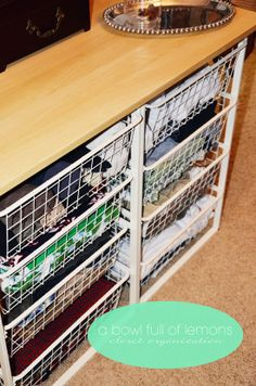 wire drawers from Ikea. | closet organization