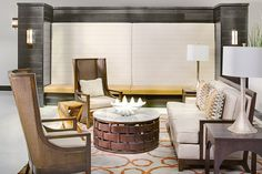 Having a space to unwind or catch up is important. Embassy Suites | Destin, Florida #interior #design #lisambiance