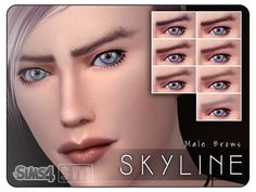 Screaming Mustard's [ Skyline ] – Male Brows   Sims 4 Updates -♦- Sims Finds & Sims Must Haves -♦- Free Sims Downloads