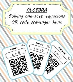 This is a highly engaging, competitive and interactive activity that will help reinforce understanding of how to solve one step linear equations. This can be done as an individual or a grouped activity and is a great way of getting the pupils out of their seats.