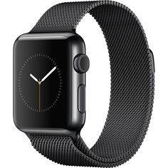 Refurbished Apple Watch (Series 1) 42mm Black Stainless Steel with a Black Milanese Band (A1554)