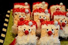 Easy Christmas Rice Krispie Treats – Pink Polka Dot Creations - New Sites Christmas Desserts Easy, 3d Christmas, Christmas Snacks, Xmas Food, Holiday Treats, Fun Desserts, Holiday Recipes, Christmas Markets, Christmas Chocolate
