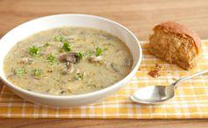 Accompagnement:  Soupe à l'orge et aux champignons d'Épicure (180 calories/par portion)