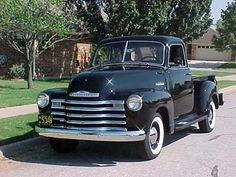 1947 Chevy Pick Up.  Had to learn to drive a column shift! (which was a benefit when I moved to NM and all the trucks were column shift with propane tanks)