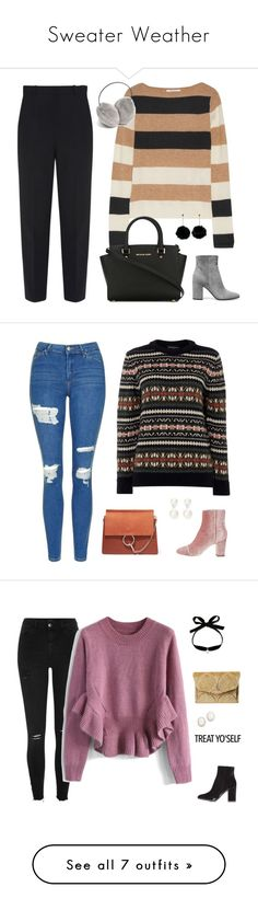 """""""Sweater Weather"""" by anetacerna ❤ liked on Polyvore featuring Balenciaga, MaxMara, MICHAEL Michael Kors, Gianvito Rossi, Topshop, Gloverall, Chloé, Thomas Sabo, River Island and Chicwish"""