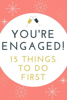 You're Engaged-Now What? 15 Things to Do First – Sunny You're Engaged-Now What? 15 Things to Do First You're engaged! Now what? 15 things you need to do first! Engagement Party Planning, Wedding Planning Tips, Wedding Tips, Wedding Engagement, Engagement Photos, Our Wedding, Dream Wedding, Wedding Stuff, Creative Engagement Announcement