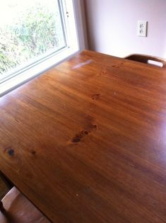Water mark on table from hot piece of corn on the cobb! (far corner) Furniture Repair, Wood Furniture, Wooden Flooring, Hardwood Floors, Water Stain On Wood, Water Tables, Outdoor Play Spaces, Pine Table, How To Iron Clothes