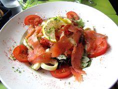 Salmon Salad, Flers, Normandy, France