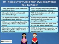 What children with dyslexia want you to know.