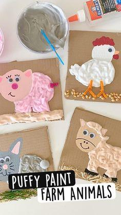 Preschool Learning Activities, Infant Activities, Preschool Activities, All About Me Activities For Toddlers, Art Activities For Preschoolers, Preschool Fall Crafts, Fun Crafts, Farm Animals Preschool, Preschool Art Projects