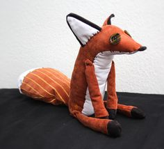 "signetveitan: "" A plush I made of the fox from the Little Prince ★ He is a posable 11″ (sitting) OOAK plush with hand painted patterns and decorative stitching. """