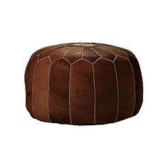 Moroccan Leather Pouf – Tan | Serena & Lily