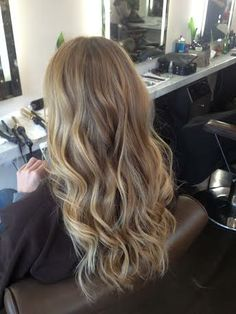 hair cut and styled by Allie Paronelli at Jonathan and George Salon in Beverly Hills, CA. Soft Blonde Hair, Blonde Hair Looks, Brown Hair Balayage, Hair Color Balayage, Hair Highlights, Dark Hair, Gorgeous Hair Color, Honey Hair, Aesthetic Hair