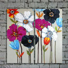 Frames For Oil Paintings Refferal: 6842270216 Abstract Canvas Art, Acrylic Painting Canvas, Painting Abstract, Abstract Flowers, Colorful Flowers, Acrylic Painting Techniques, Arte Floral, Flower Art, Hand Painted