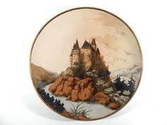 Keramik Vase, Villeroy, Art Nouveau, Decorative Plates, Tableware, Home Decor, Antique Pottery, Blue Flowers, Stoneware
