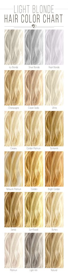 Light Blonde Hair Color Chart #blondehair