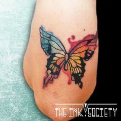 #tattoo #tatoeage #artonskin # watercolor #butterflytattoo #watercolortattoo #colortattoo  #tattooutrecht #theinksociety www.theinksociety.nl www.facebook.com/theinksocietyNL