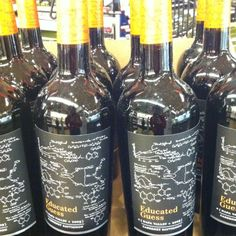 Cool Bottle design on this Educated Guess wine spotted at Whole Foods