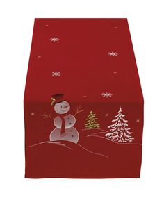 DII Christmas Holiday Embroidered Table Runner 14 x Snowman *** Quickly view this special deal, click the image : Christmas Home Decor Christmas Sewing, Christmas Embroidery, Christmas Crafts, Christmas Decorations, Christmas Towels, Christmas Snowman, Table Runner And Placemats, Table Runners, Christmas Runner