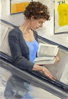 Illustration by Nick Botting Reading Art, Woman Reading, I Love Reading, Reading Library, Reading Books, I Love Books, Good Books, People Reading, Books To Read For Women