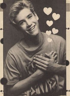 Mark- Paul Gosselaar. He is olf now but he was so attractive in Saved By The Bell!