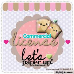 Commercial License, Commercial Use, License, Clipart License, Paper License, Stickers License, Royalty, Commercial Use License