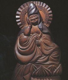 木喰'如意輪観音菩薩'(1804年 長岡市・寶生寺) Taoism, Buddhism, Japanese Monk, Buddhist Art, Sculptures, Carving, Faith, Statue, Illustrations